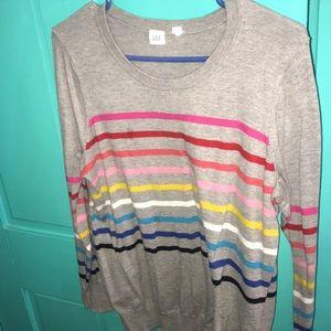 GAP rainbow sweater